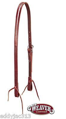 "Cowboy Simple Split Ear Headstall, 5/8"" Latigo Leather by Weaver New Free Ship"