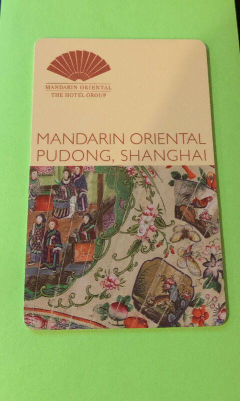 Room Key from The Mandarin Oriental Pudong Hotel in Shanghai, China