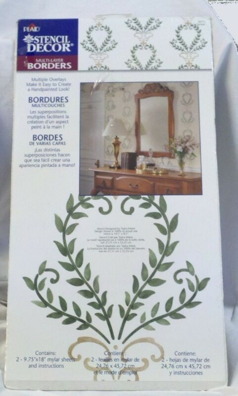 Plaid Enterprises Stencil Decor Fern Damask #26775 Multi-layer Borders NEW
