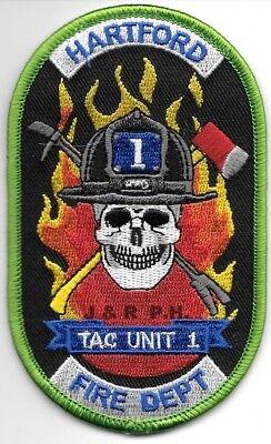 """*NEW*  Hartford  TAC UNIT-1, Connecticut  (2.75"""" x 4.5"""" size) fire patch"""