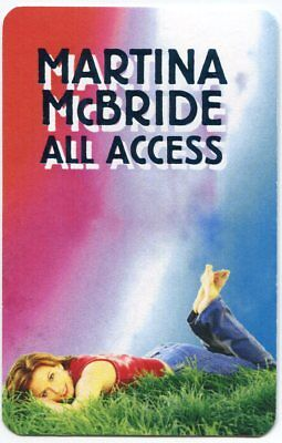 MARTINA McBRIDE 2001 Blessed Concert Tour Backstage Pass!!! Authentic stage