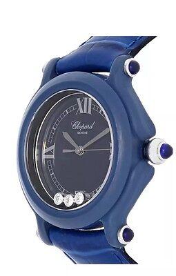 Chopard Be Happy Ladies 3 Floating Diamond Swiss Quartz Watch Retail $2150!!!!