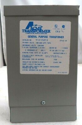Acme Transformer Low Voltage Distribution Transformer Pn Tf217437s