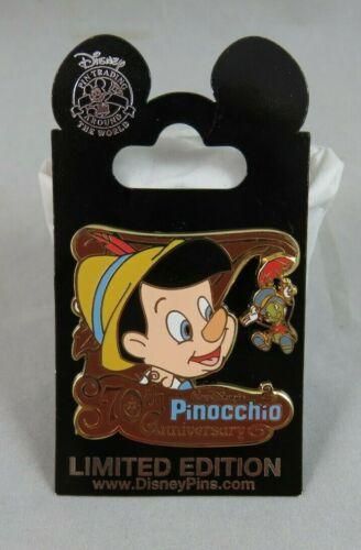 Walt Disney World Disneyland Pin - Pinocchio - 70th Anniversary - Jiminy Cricket