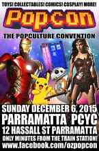 New Monthly Pop Culture collectables Fair in Parramatta! Parramatta Parramatta Area Preview