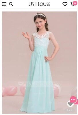 (JJ's House wedding or special occasions Mint Green dress size J12 Worn Once)