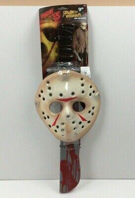 Jason Voorhees Mask and Machete Halloween Accessory Rubie's (Jason Voorhees Machete)