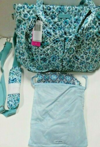 Vera Bradley Iconic Ultimate Baby Bag Diaper W/Changing Pad in CLOUD VINE NWT
