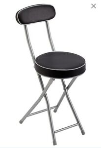 Folding chair/stool with back support