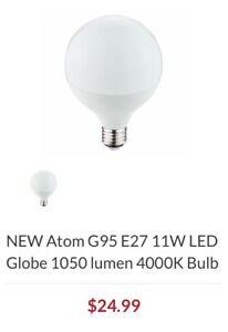 NEW Atom G95 E27 11W LED Globe 1050 lumen 4000K Bulb Moorooka Brisbane South West Preview