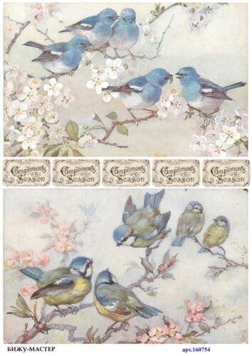 Rice paper decoupage #160754 napkin vintage Decoupage supplies craft