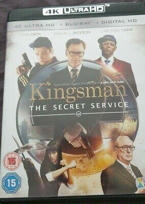 KINGSMAN - SECRET SERVICE - 4K & BLURAY - MINT CONDITION - FREE 1ST CLASS UK P&P