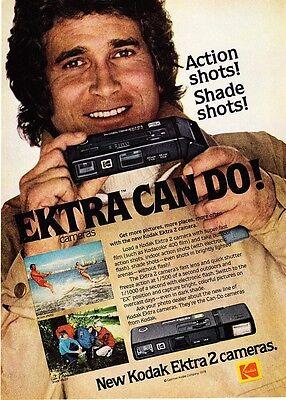 1978 Actor Michael Landon photo Kodak Ektra 2 Camera promo print ad