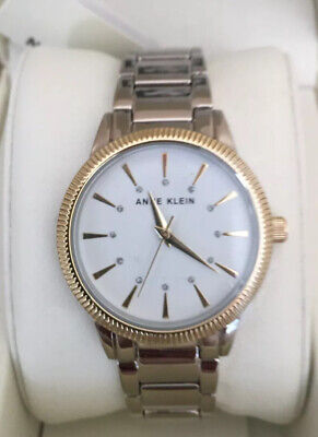 Anne Klein Two-Tone Gold and Silver Dial Ladies Silver Band AK/3057 Watch