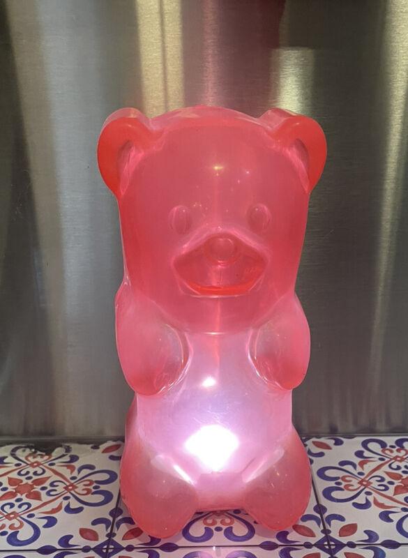 Gummygoods Squeezable Gummy Bear Night Light Pink