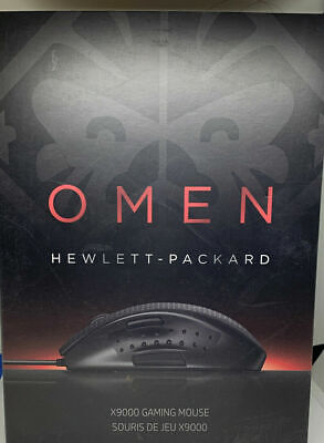 NEW HP Omen X9000 Elite Precision USB Mouse For Gaming Computer 8200 DPI 150 IPS