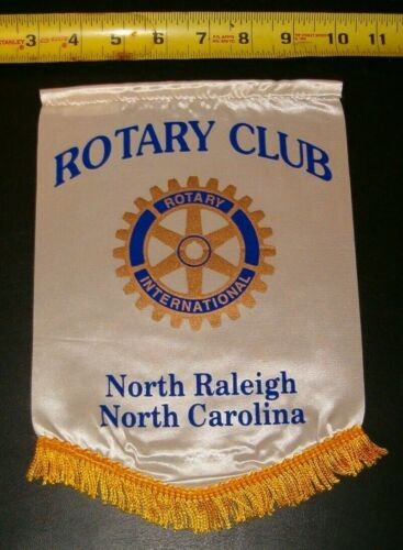 VINTAGE Rotary International Club  banner flag  NORTH RALEIGH NORTH CAROLINA