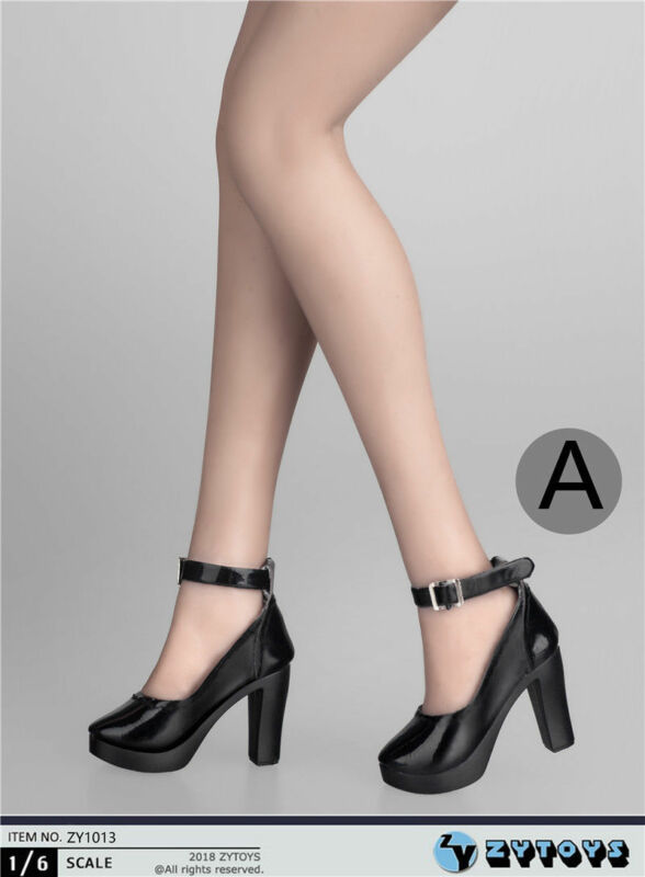 """1//6 High Heel Pumps Shoes PINK For 12/"""" Hot Toys Phicen Female Figure USA SELLER"""
