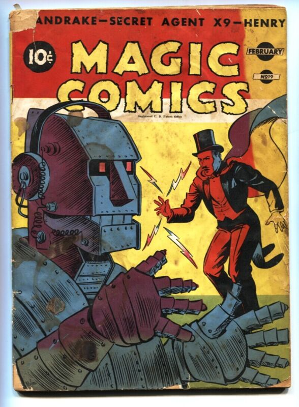 Magic #19 1941-McKay-Mandrake-ROBOT COVER-Secret Agent X Blondie