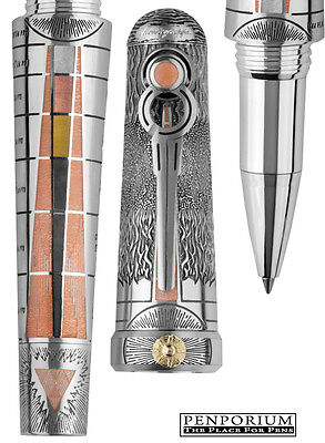 """MONTEGRAPPA ALCHEMIST """"EARTH"""" STERLING SILVER LIMITED EDITION ROLLERBALL PEN"""