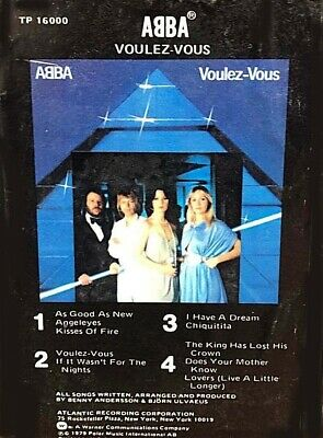 Voulez-Vous ABBA 1979 Atlantic 8 Track Tape Stereo Cartridge Soft Rock OOP VGC