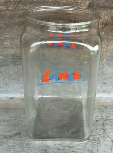 *Vintage Large Size Glass LANCE Store Display Jar   *NO LID* COUNTRY STORE