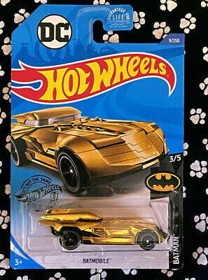 Hot Wheels BATMAN 3/5 BATMOBILE GOLD