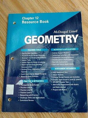 Mcdougal Littell   Geometry   Chapter 12 Resource Book   Ex Lib