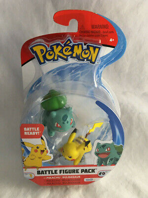 Pokemon Battle Figure Pack Pikachu & Bulbasaur Figures - New & Sealed