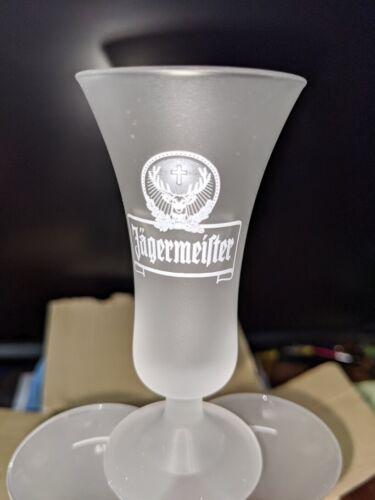 Jagermeister Shot Glasses, Stemmed 2cl, Set of 6 in Original Box