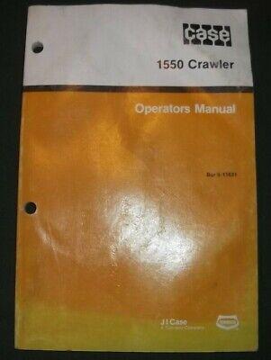 Case 1550 Crawler Tractor Dozer Operator Operation Maintenance Book Manual
