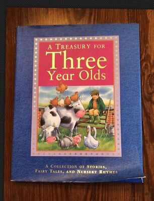 BN HC DJ A TREASURY FOR THREE YEAR OLDS A Collection Of Stories, Fairy Tales - Fairy Tale Stories For Children