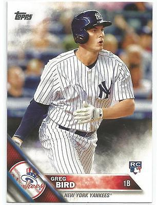 Greg Bird New York Yankees 2016 Topps Rookie Card