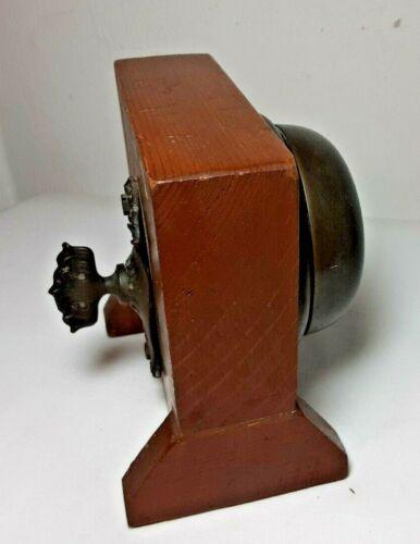 Original Antique Victorian Art Nouveau Manual Twist Door Bell Buzzer Doorbell