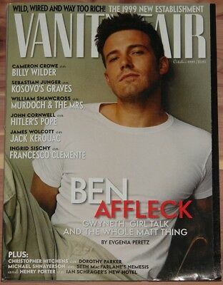 OCTOBER 1999 VANITY FAIR MAGAZINE, BEN AFFLECK