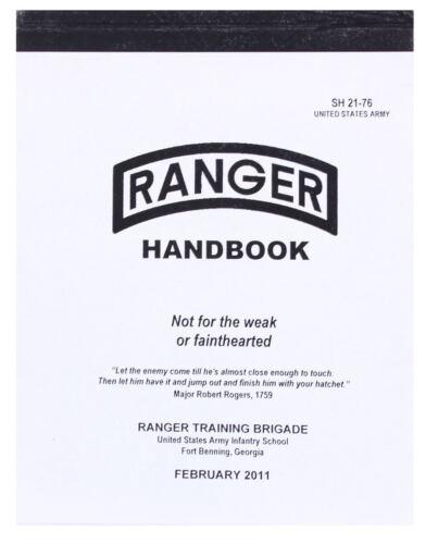 Official US Ranger Handbook Army Book Military Training Manual Guide SH 21-76