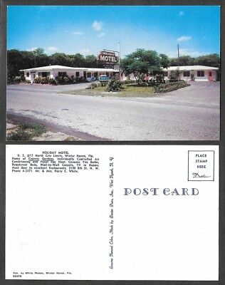 Old Florida Hotel Postcard - Winter Haven - Holiday Motel