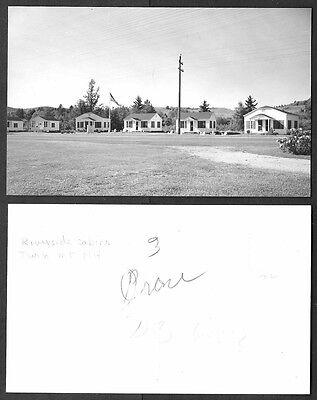 Old Real Photo Postcard - Twin Mountain, New Hampshire - Riverside Cabins