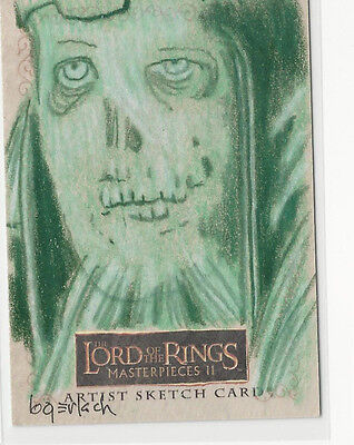 Ghost LOTR Lord of the Rings Masterpieces 2 Topps Sketch Card Bruce Gerlach 1/1