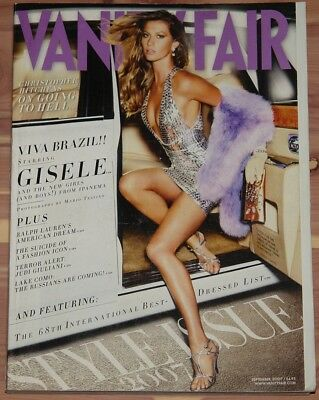 SEPTEMBER 2007 VANITY FAIR MAGAZINE GISELE, INTERNATIONAL BEST-DRESSED LIST