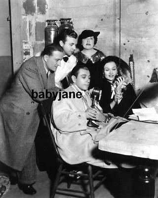 002 CAROLE LOMBARD GEORGE RAFT DICK POWELL LOUELLA PARSONS CANDID ON RADIO PHOTO