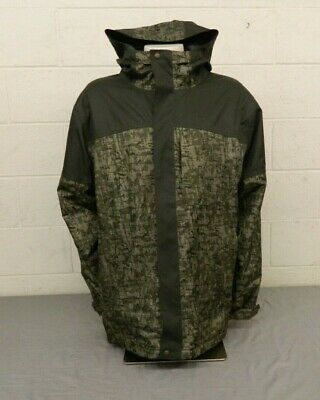 SIMS Patterned Green Hooded Insulated Snowboard Jacket Men's XXL EXCELLENT LOOK