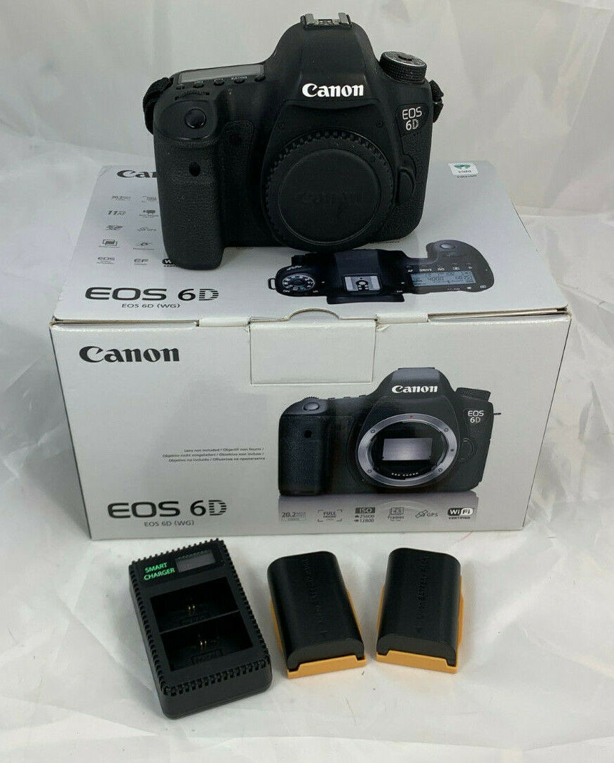 Canon EOS 6D schwarz 20,2 MP DSLR Spiegelreflexkamera C53 1681 I8