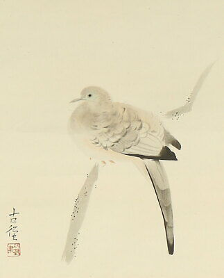 Pigeon JAPANESE PAINTING HANGING SCROLL PRINT ART From JAPAN Picture d637