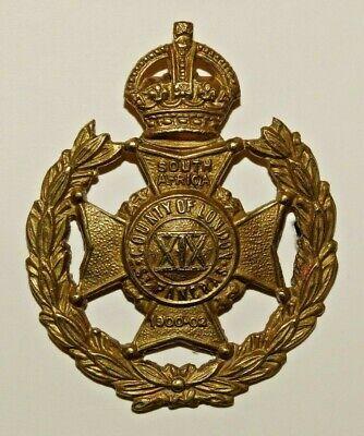 British Military Cap Badge 19th County of London Bn. St. Pancras 1908-1922