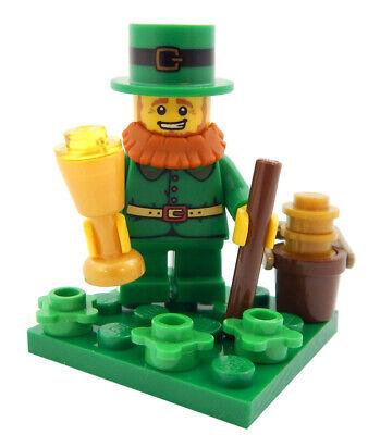 NEW LEGO LEPRECHAUN MINIFIG LOT st patrick's day irish pot of gold 4 leaf clover