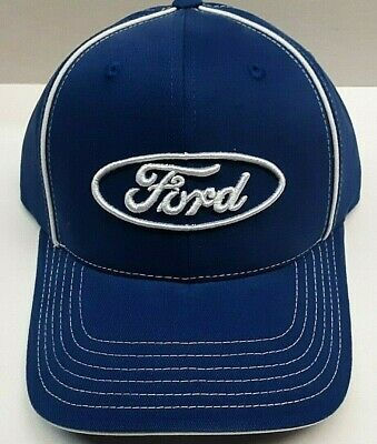 Ford Blue Nascar Checkered Flag Hat - Blue Checkered Flag