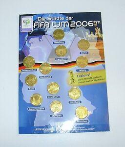 12 x Sammelmünzen Medaille Fussball Weltmeisterschaft 2006  WM Städte der FIFA