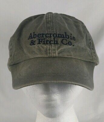 Vintage 90s Abercrombie And Fitch Olive Green Stretch Fit Hat A&F