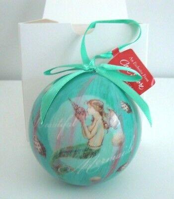 - Mermaid Dreams, Cape Shore Ball Ornament Christmas, Holiday, Summer Memories Art